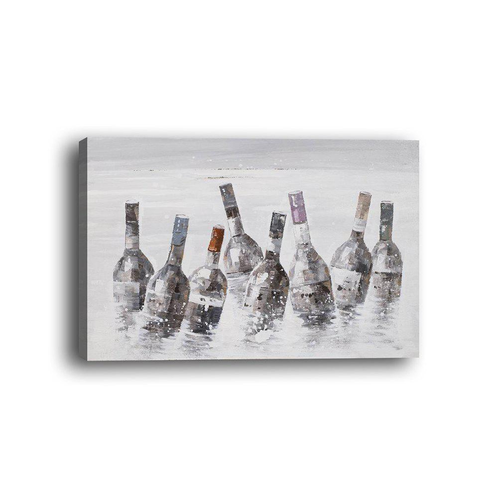 Framed Canvas Bedroom Background Wall Still Life Bottle Decoration Print - multicolor 14 X 20 INCH (35CM X 50CM)