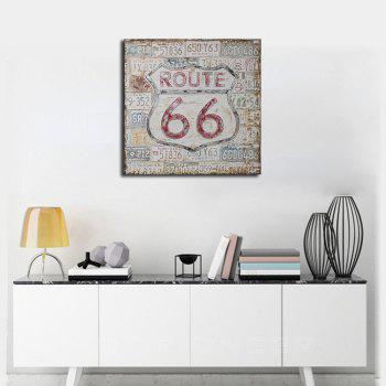 Framed Canvas Modern Simple Living Background Wall Still Life Abstract Print - multicolor 19 X 19 INCH (50CM X 50CM)