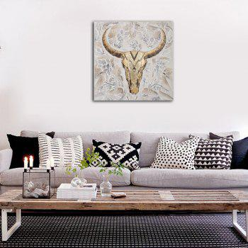 Framed Canvas Modern Room Abstract Still Life Sheep's Head Decoration Print - multicolor 16 X 16 INCH (40CM X 40CM)