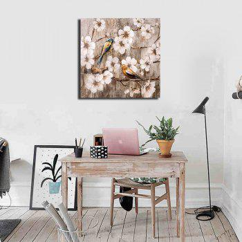 Framed Canvas  Living Room Bedroom Wall Plant Flower Decoration Print - multicolor 19 X 19 INCH (50CM X 50CM)
