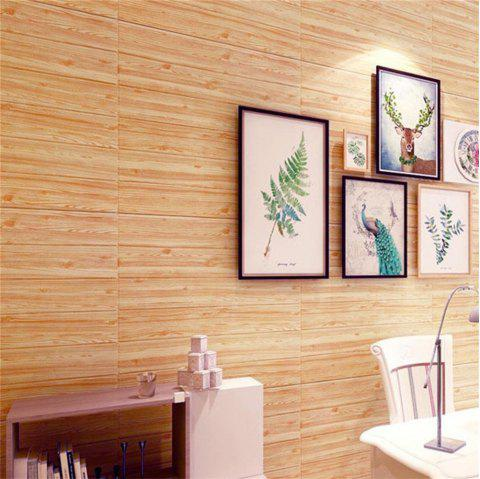 Self Adhesive 3D Waterproof Wood Grain Wall Stickers  Safty Home Decor - CINNAMON