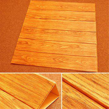 Self Adhesive 3D Waterproof Wood Grain Wall Stickers  Safty Home Decor - CANTALOUPE