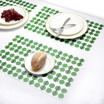 Washable Fabric Placemats for Dining Room Kitchen Table Decoration 4Pcs - SPRING GREEN