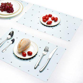 Washable Fabric Placemats for Dining Room Kitchen Table Decoration 4Pcs - LIGHT BLUE