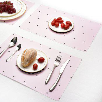 Washable Fabric Placemats for Dining Room Kitchen Table Decoration 4Pcs - PIG PINK