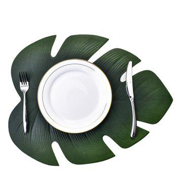 Heat-resistant Washable Fabric EVA Placemats 4Pcs - ARMY GREEN