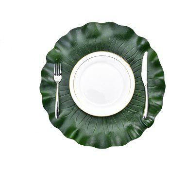 Heat-resistant Washable Fabric EVA Placemats 4Pcs - DEEP GREEN