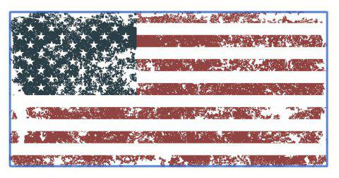 American Flag Polyester Digitally Printed Rectangular Beach Towel - multicolor A 75X150CM
