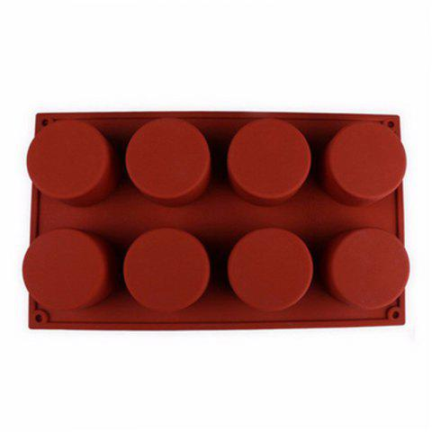 8 Grids Silicone Soap Cake Chocolate Mold - CHESTNUT RED