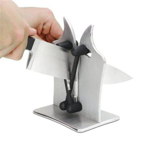 Professional Knife Sharpener Solid Stainless Steel + Austrian Tungsten Carbide - SILVER