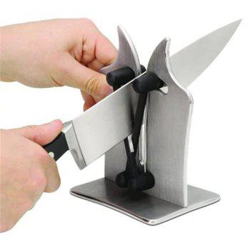 Professional Knife Sharpener Solid Stainless Steel and Austrian Tungsten Carbide - SILVER