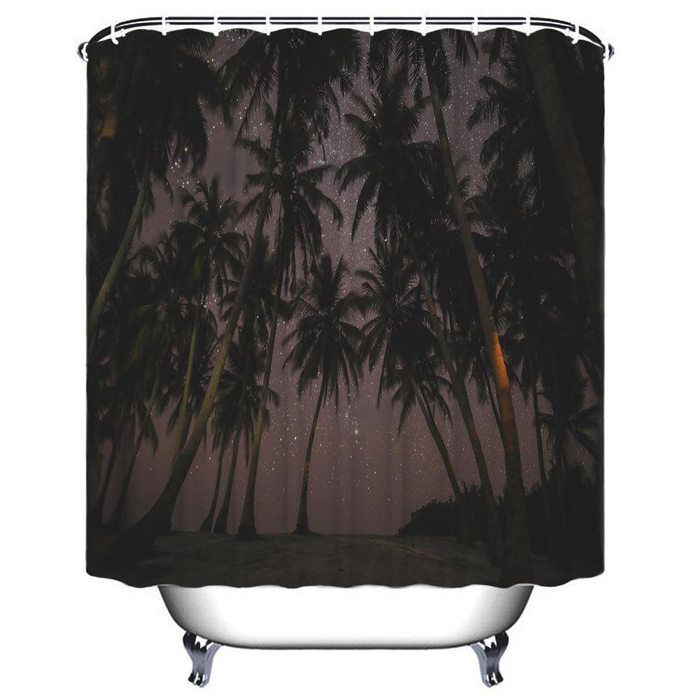 Coco Star Shower Bath Polyester Waterproof Shower Curtain - MIDNIGHT W71 INCH * L71 INCH