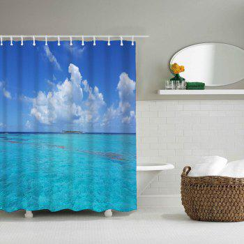 Sea Island Bathroom Polyester Printed Waterproof Shower Curtain - CELESTE W59 INCH * L71 INCH