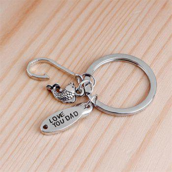 Europe and America Creative Keychain Father Day Gift - SILVER