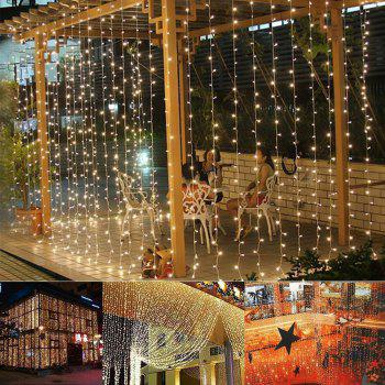 304LED 9.8FT Window Curtain String Lights for Party Wedding Garden Home - WARM WHITE