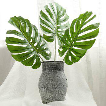 Tropical Leaves Palm Artificial Monstera Leaf Jungle Beach Theme Party Supplies - EMERALD GREEN M:60*24CM