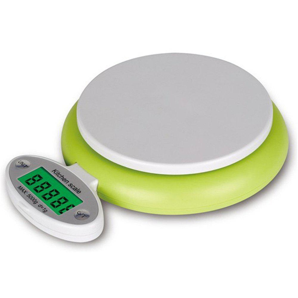 Digital Practical 5KG/1G LCD Display Electronic Kitchen Scale - TEA GREEN