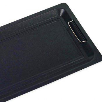 Thick Non-Stick Fried Carbon Steel Grill Plate - BLACK