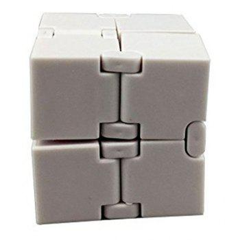 Relieve Stress Anxiety Decompression Unlimited Folding Magic Cube Toy - WHITE