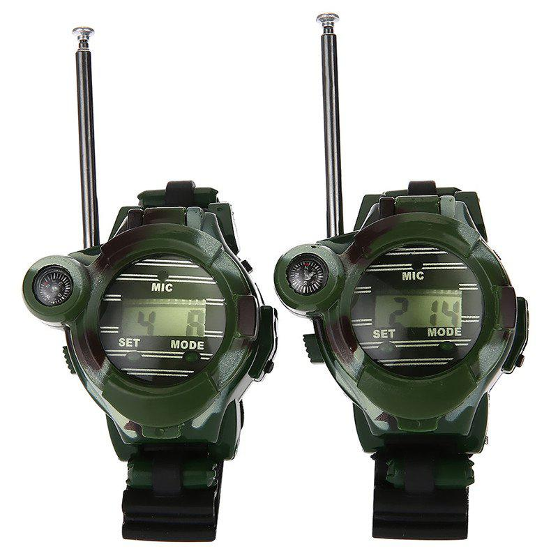 Long Range Two-way Radio Talky Camo Outdoor Army Kids Walkie Talkies Watch Toy - ARMY GREEN