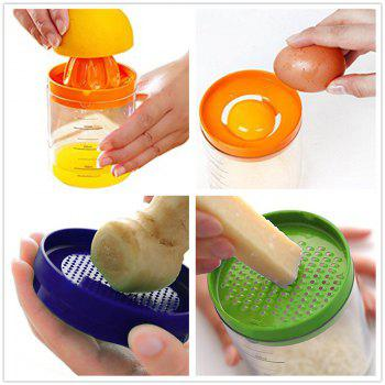 8 in 1 Multi Kitchen Tool Funnel Measuring Glass Grates Egg Separation - multicolor