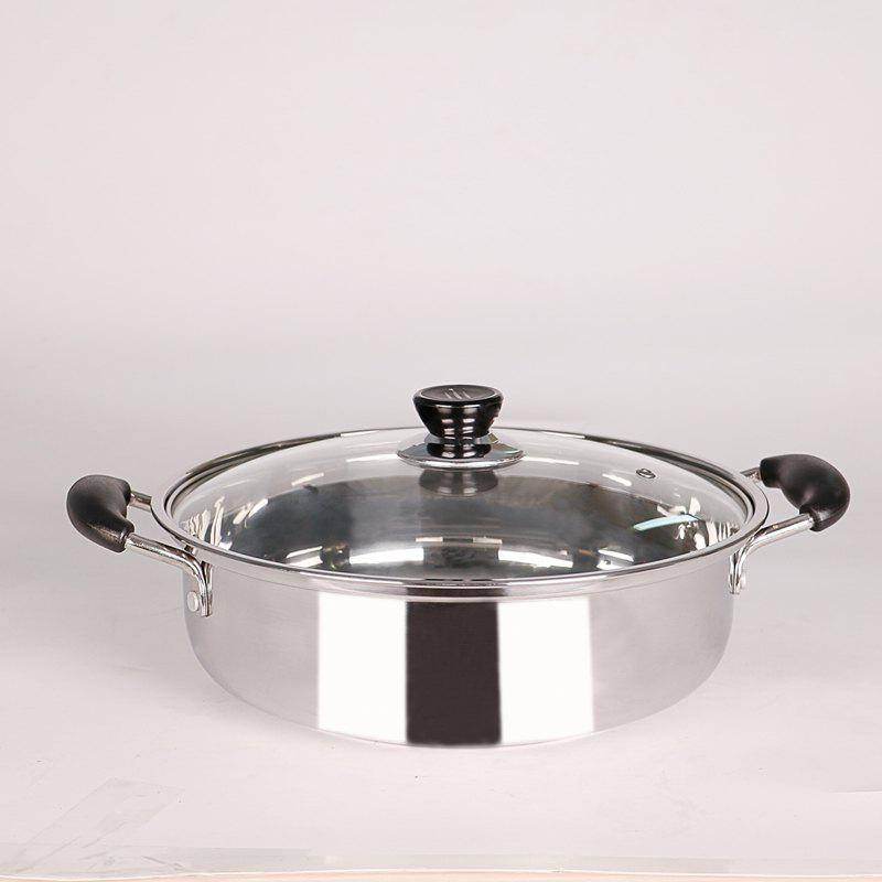 PANDA HL-203 Artical Thickened Composite Bottom Pot - SILVER