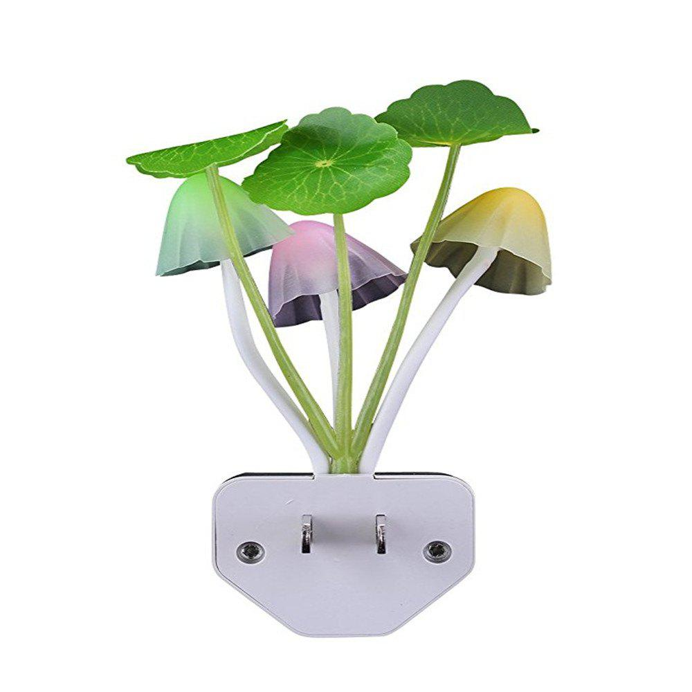 Sensor LED Night Light Color Changing  Mushroom Dream Bed Lamp - multicolor A
