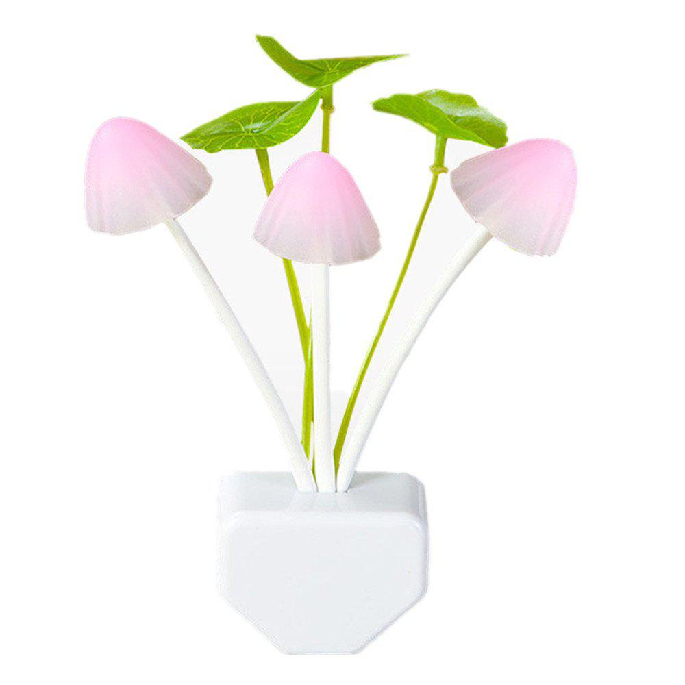 Sensor LED Night Light Color Changing  Mushroom Dream Bed Lamp - multicolor B