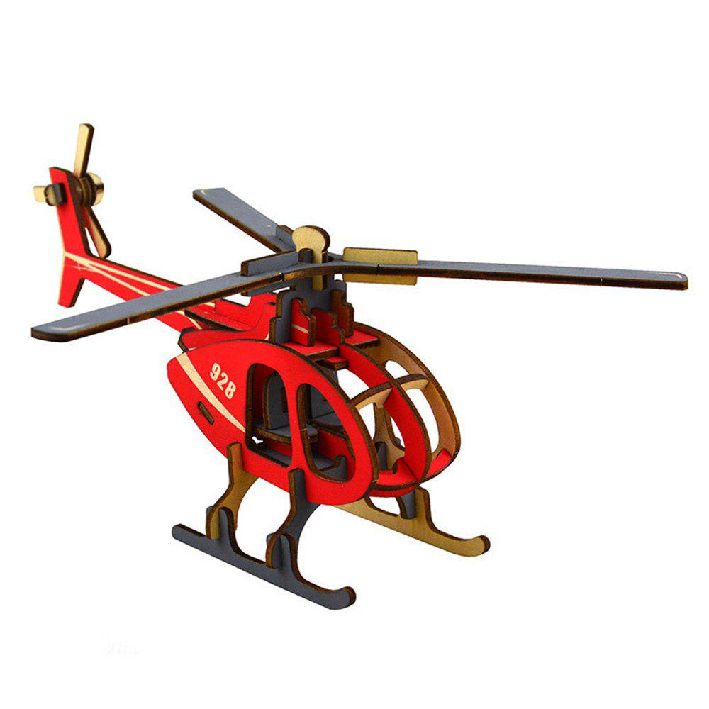 3D Wooden Puzzle Helicopter Buliding Model 271808101