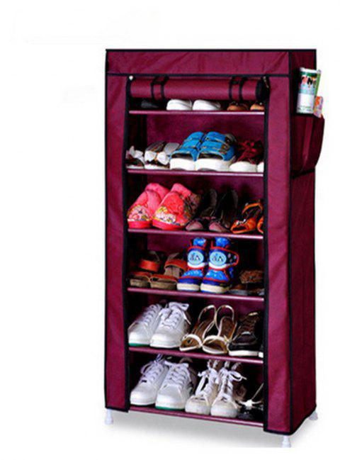 Thicken Non-woven Dustproof Multilayer Shoe Rack Creative Cabinet Storage Shelf - RED WINE