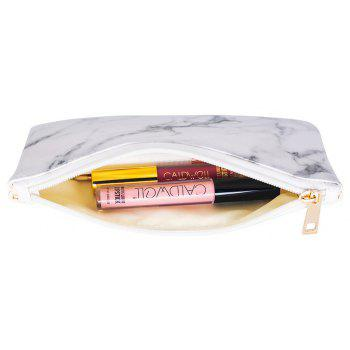 Nordic Marble Pattern Cosmetic Storage Bag - WHITE SIZE S
