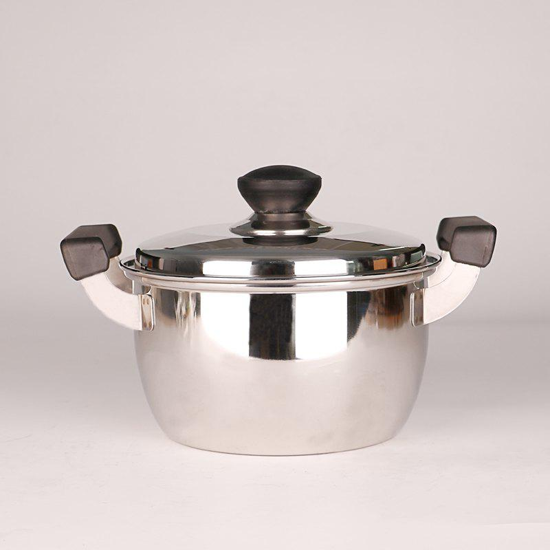 PANDA HL-302 Stainless Steel Soup Pot with Cover - SILVER SOUP POT1