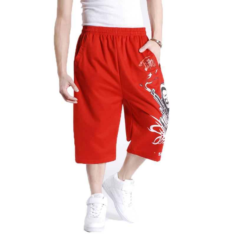 Young Men's New Summer Plus Size Hot Shorts - RED 4XL