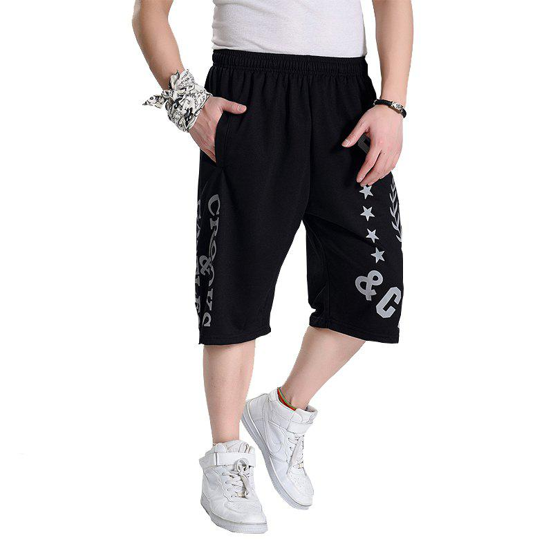 Male New Students Plus Size Summer Hot Shorts - BLACK XL