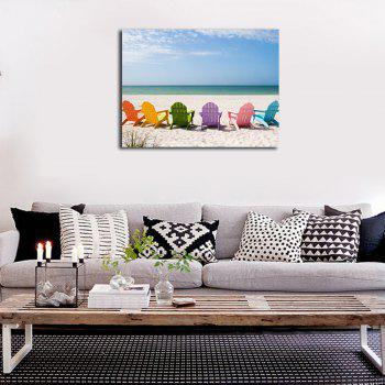 Framed Canvas Modern Living Room Still Life Sea View Print - multicolor 14 X 20 INCH (35CM X 50CM)