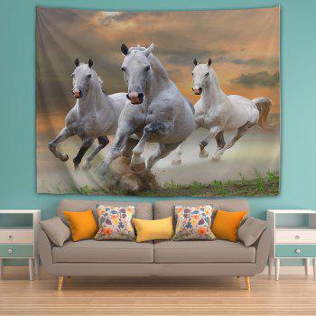 Sunset White Horse 3D Printing Home Wall Hanging Tapestry for Decoration - multicolor A W203CMXL153CM