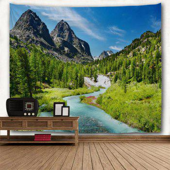 Mountain Landscape 3D Printing Home Wall Hanging Tapestry for Decoration - multicolor A W200CMXL180CM