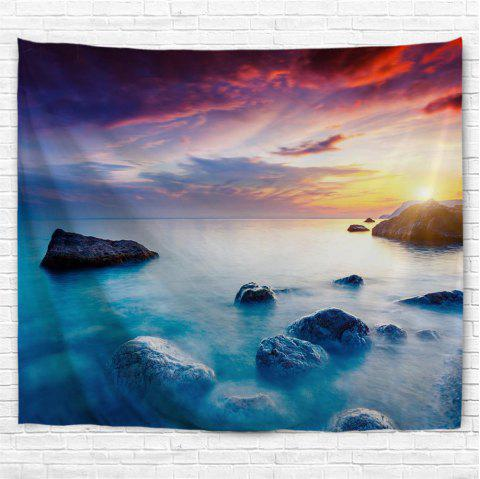 Sunset Lake 3D Printing Home Wall Hanging Tapestry for Decoration - multicolor A W200CMXL180CM