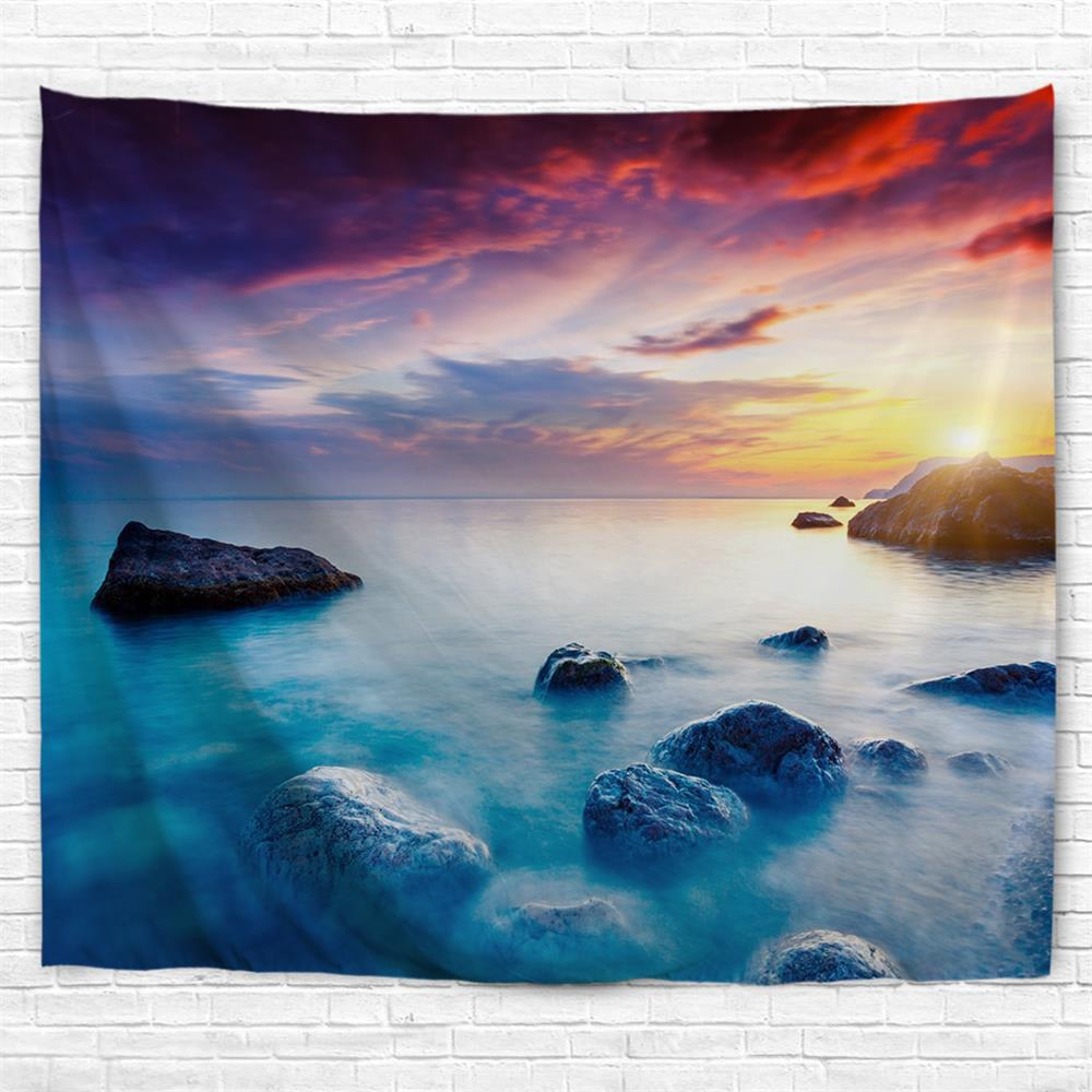 Sunset Lake 3D Printing Home Wall Hanging Tapestry for Decoration - multicolor A W153CMXL130CM