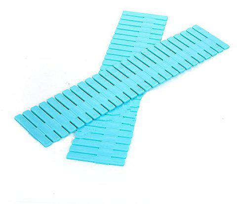 Plastic DIY Drawer Divider Separator Closet Tidy 8 PCS - CYAN OR AQUA