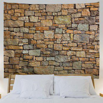 Natural Brick 3D Printing Home Wall Hanging Tapestry for Decoration - multicolor A W230CMXL180CM