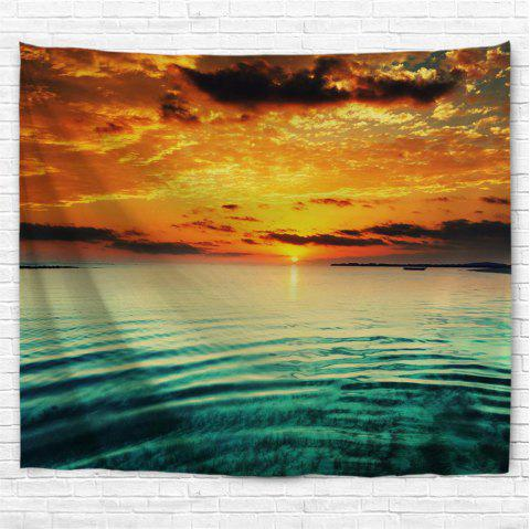 Sunset Over the Sea 3D Printing Home Wall Hanging Tapestry for Decoration - multicolor A W230CMXL180CM