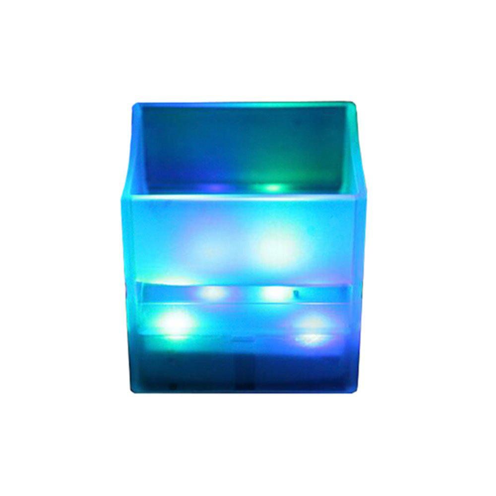 MASU Culture Colorful Square Luminous Cup - TRANSPARENT 7 X 7 X 6.5 CM