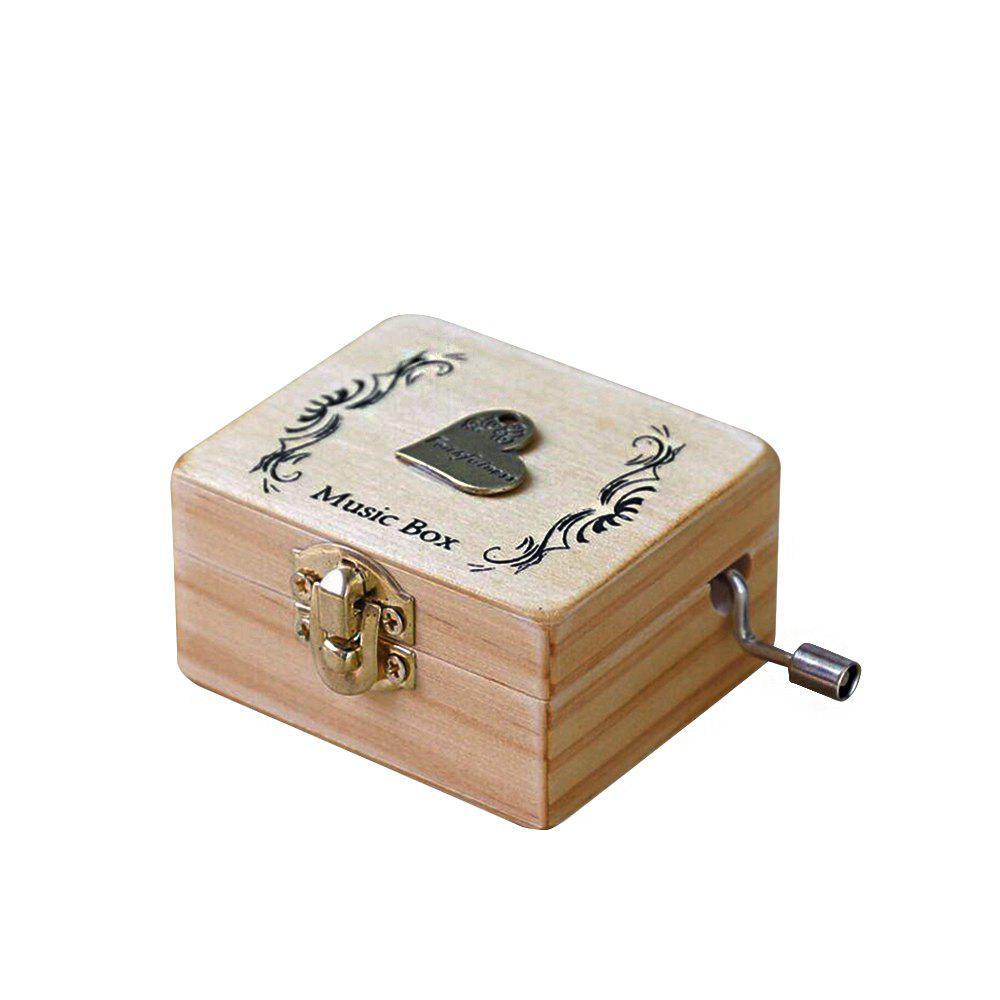 Creative Home Decoration Wooden Hand-made Music Box - multicolor K