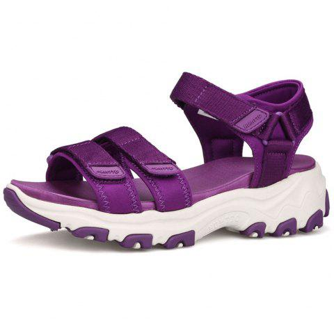 HUMTTO Women Quick-drying Summer Non-slip Lightweight Cushioning Beach Sandals - PURPLE 38