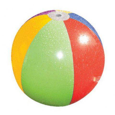 Children Outdoor Inflatable Spraying Water Ball Large Beach Toys - multicolor A