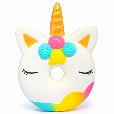 Jumbo Squishy  Cute Unicorn Donut  Slow Rising Soft  Charms Fun Toy - multicolor
