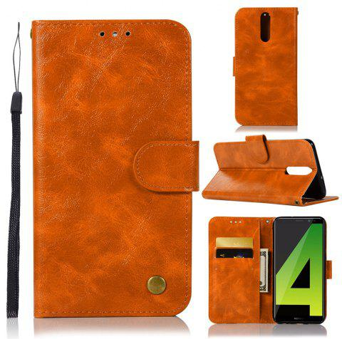 Flip Leather Case PU Wallet Case For Huawei Nova 2I / Huawei Mate 10 Lite Smart Cover Vintage Fashion Phone Bag with Stand - GOLDEN BROWN