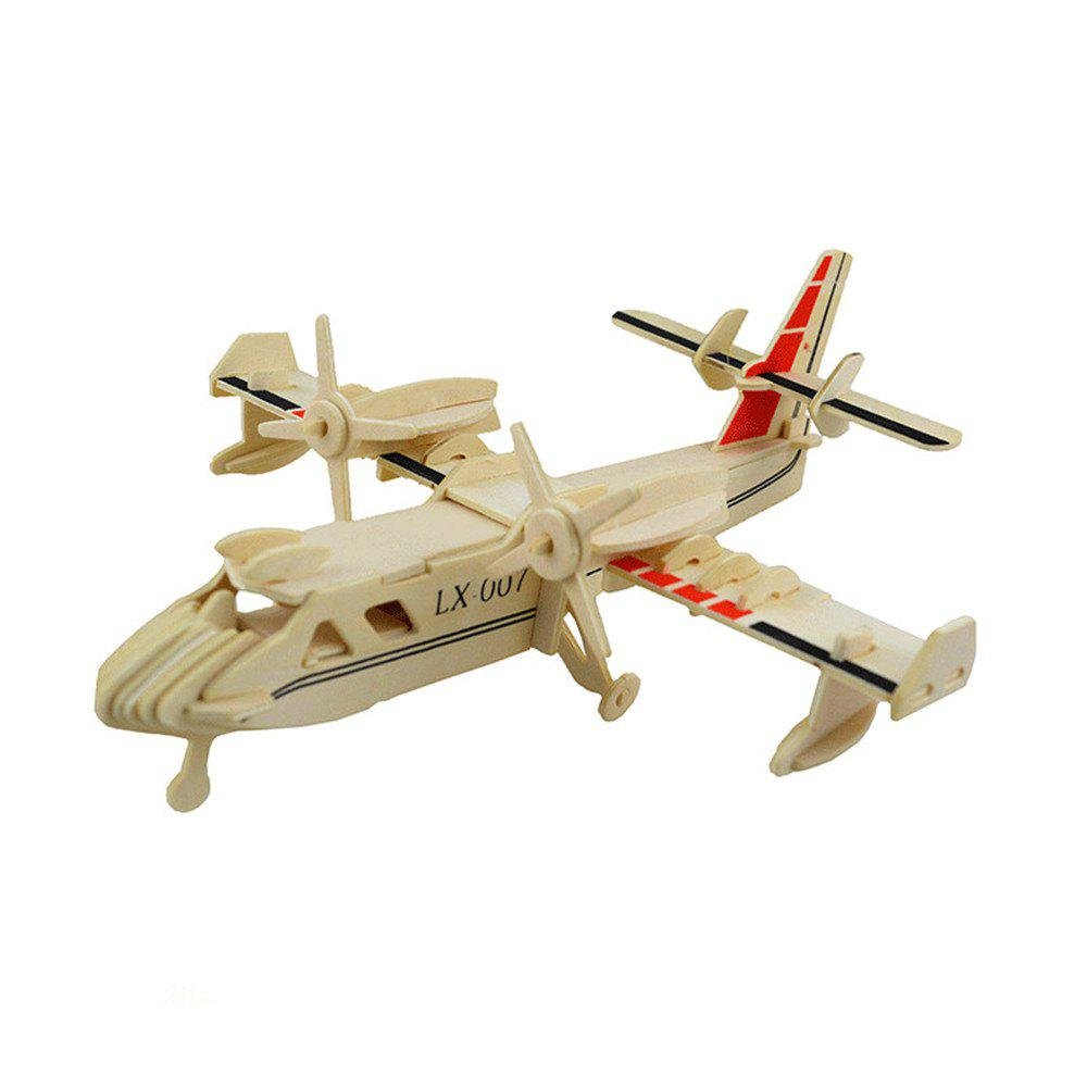 3D Wood Educational Puzzles Children Adults Bombardment Aircraft 272019801