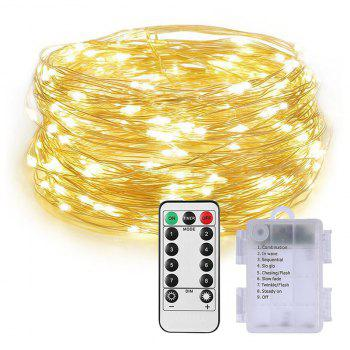 100 Led String Fariy Lights Battery Operated Waterproof with Remote Control - WARM WHITE